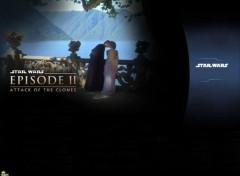 Fonds d'écran Cinéma Star Wars II - The Forbiden Love