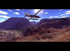 Wallpapers Planes Desert Fly
