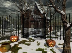Wallpapers Digital Art Halloween evening