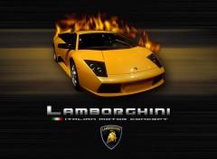 Fonds d'écran Voitures Fire Lamborghini