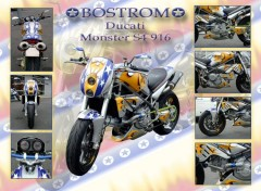 Fonds d'écran Motos Ducati Monster S4 Bostrom