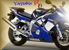 Wallpapers Motorbikes Yamaha R6 bleu