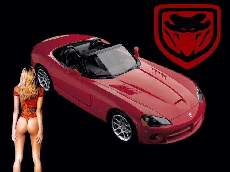 Wallpapers Cars Girls and cars Dodge Viper 2003
