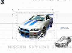 Wallpapers Cars Nissan Skyline GTR R34 (2 fast 2 furious)