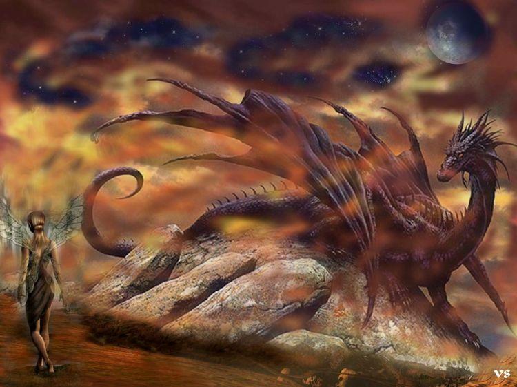 Fonds d'écran Fantasy et Science Fiction Créatures : Dragons dragon 2