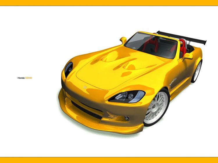 Wallpapers Digital Art 3D - Various :: Honda S2000 ::