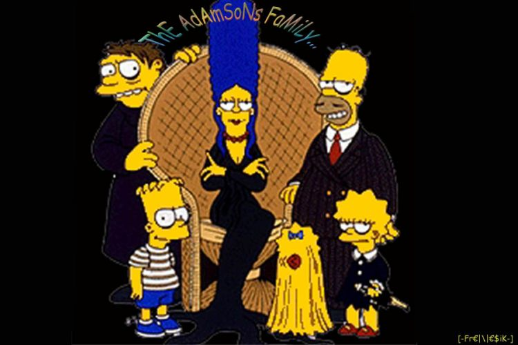 Fonds d'écran Dessins Animés Les Simpsons the adamsons family