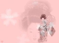 Fonds d'écran Art - Numérique Geisha