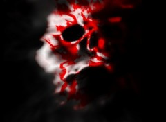 Wallpapers Digital Art skull on blood