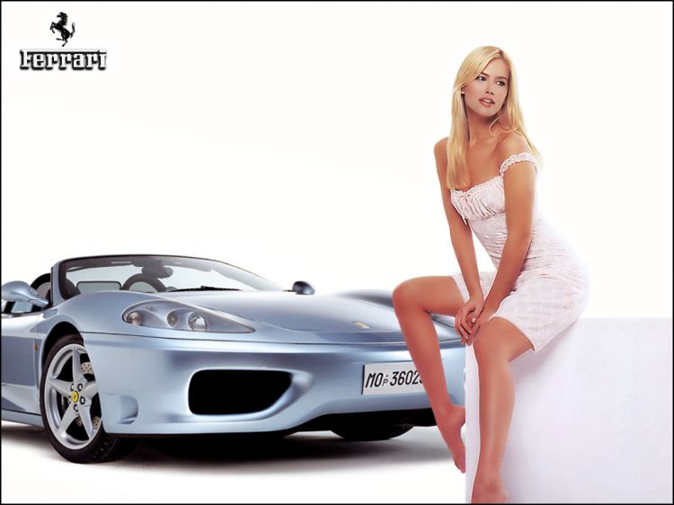 Wallpapers Cars Girls and cars Ferrari + Pin-up