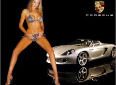 Wallpapers Cars Porsche + pin-up