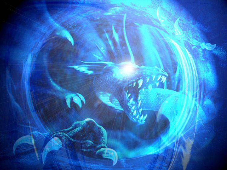 Fonds d'écran Fantasy et Science Fiction Créatures : Dragons ..And born of an Iceheart..