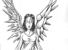 Wallpapers Art - Pencil ange femme