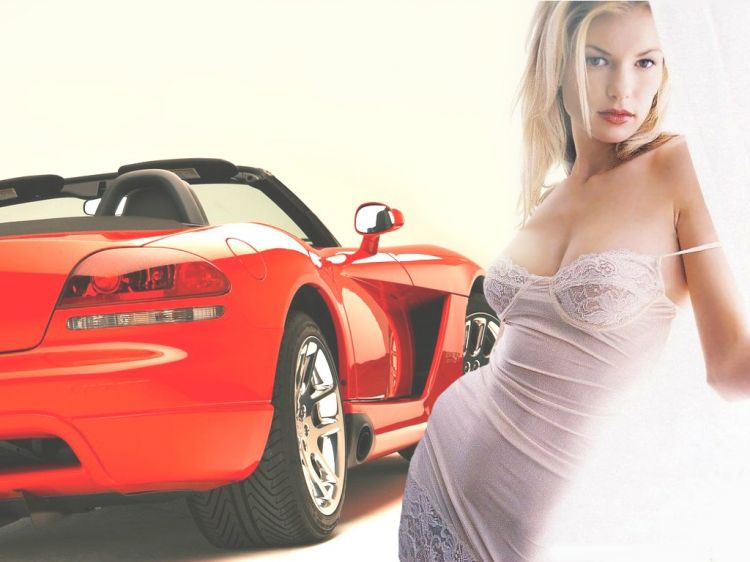 Wallpapers Cars Girls and cars Viper Girl