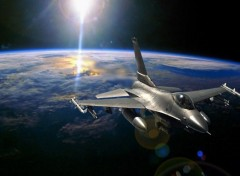 Wallpapers Planes F16 in space