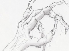 Fonds d'écran Art - Crayon freddy hand