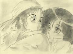 Fonds d'écran Manga gally et yugo