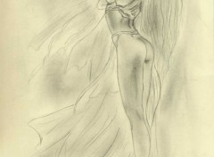 Fonds d'écran Art - Crayon femme