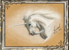 Fonds d'�cran Art - Peinture Licorne blanche