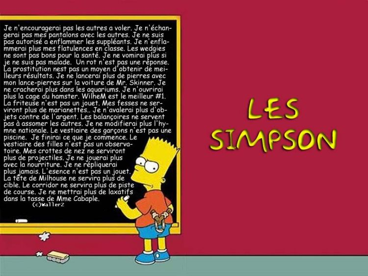 Fonds d'écran Dessins Animés Les Simpsons Bart copie !
