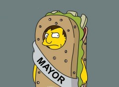 Fonds d'écran Dessins Animés Maire des Simpsons