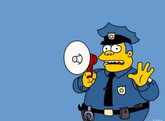 Fonds d'écran Dessins Animés Police des Simpsons