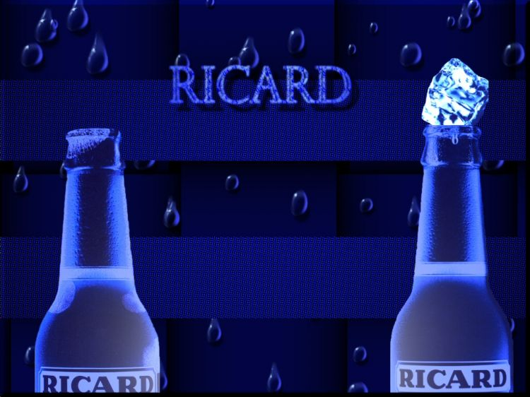 fonds d 39 cran objets fonds d 39 cran boissons alcool ricard blue par socalledchaos. Black Bedroom Furniture Sets. Home Design Ideas