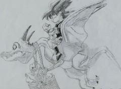 Fonds d'écran Art - Crayon Sangohan