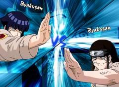 Fonds d'écran Manga Byakugan contre Byakugan