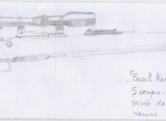 Fonds d'écran Art - Crayon Fusil Kar 98K - 7,92mm 5coups 3,9Kg