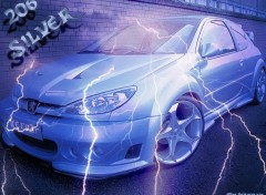 Wallpapers Cars 206 Silver