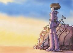 Fonds d'écran Manga Nausicäa et un bébé Ohmu