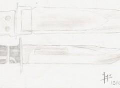 Fonds d'écran Art - Crayon Couteau de parachutiste U.S