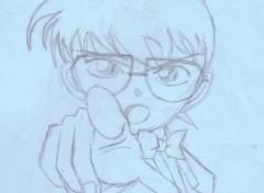 Fonds d'écran Art - Crayon Conan (Détective Conan)