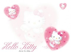 Wallpapers Cartoons Kitty pink