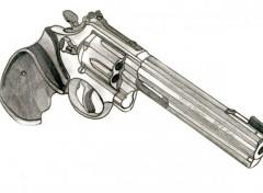Fonds d'écran Art - Crayon Smtih&Wesson 357 magnum