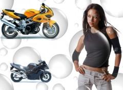 Wallpapers Motorbikes la belle Jessica Alba