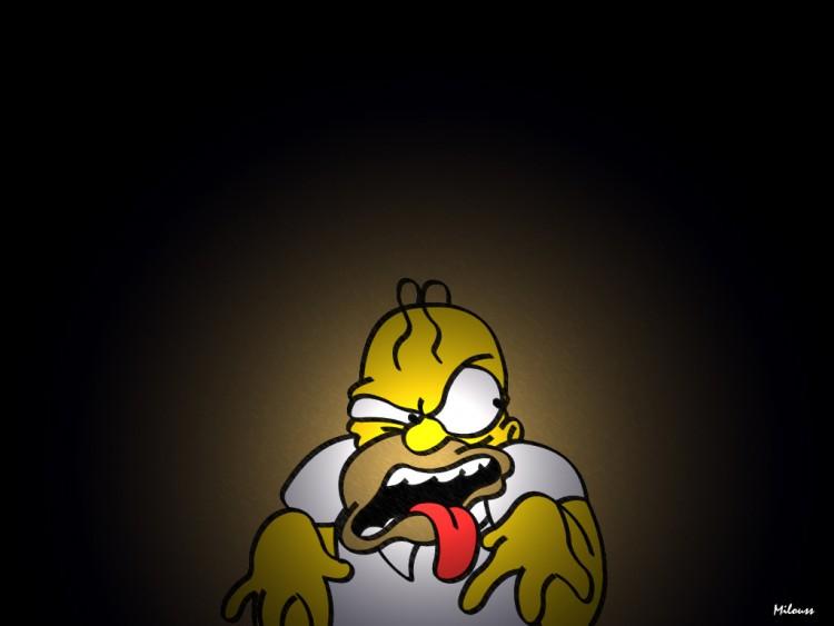 Fonds d'écran Dessins Animés Les Simpsons homer pète les plombs