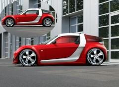 Fonds d'écran Voitures Smart Roadster rouge