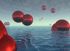 Fonds d'écran Art - Numérique Water Balls