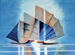 Fonds d'écran Art - Peinture Voiliers