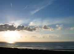 Fonds d'écran Nature Coucher de soleil à La Panne