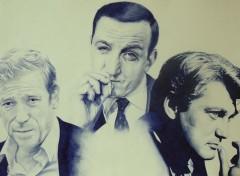 Wallpapers Art - Pencil 3 visages sympathique