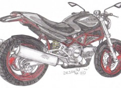 Fonds d'écran Art - Crayon ducati monstro