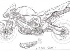 Fonds d'écran Art - Crayon roadster sport