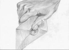 Fonds d'écran Art - Crayon Main & enveloppe