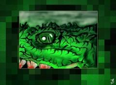Wallpapers Digital Art Grocodile...