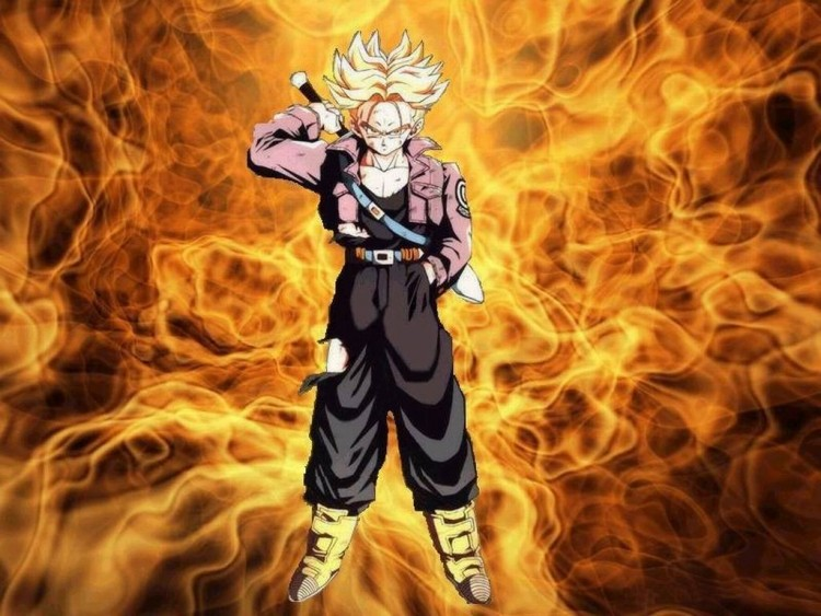 Fonds d'écran Manga Dragon Ball Z trunks feu