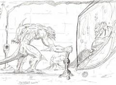 Fonds d'écran Art - Crayon Sous terrain de l'enfer.