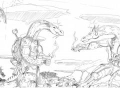 Wallpapers Art - Pencil Dragon's war